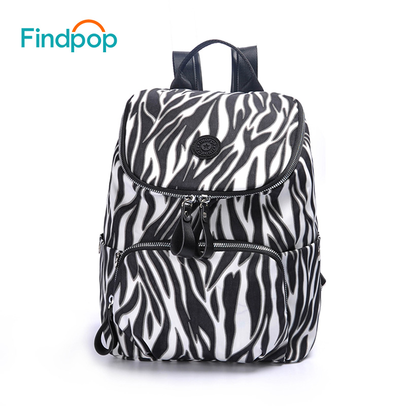 Findpop Large Capacity Printing Backpack Women 2018 Fashion Casual Backpack Bags For Women Canvas Waterproof Backpacks Mochilas tangimp drawstring backpacks embroidery dear my universe cherry rocket printing canvas softback man women harajuku bags 2018