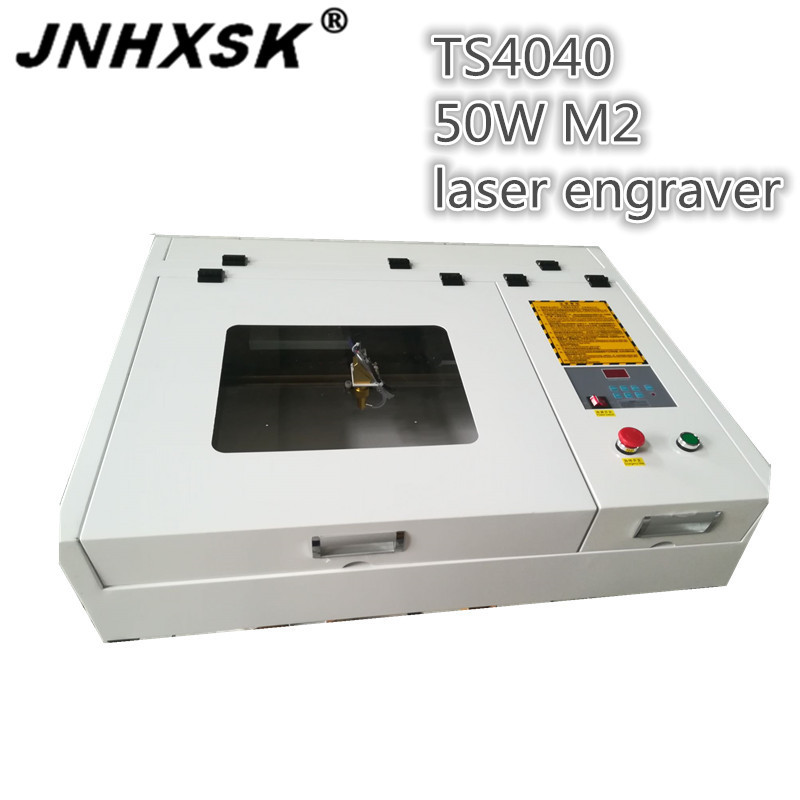 JNHXSK 50W CO2 Chinese Laser Cut Laser Engraving Machine Laser Cutting Machine For Acrylic Fabric M2 System Mini Desktop CNC