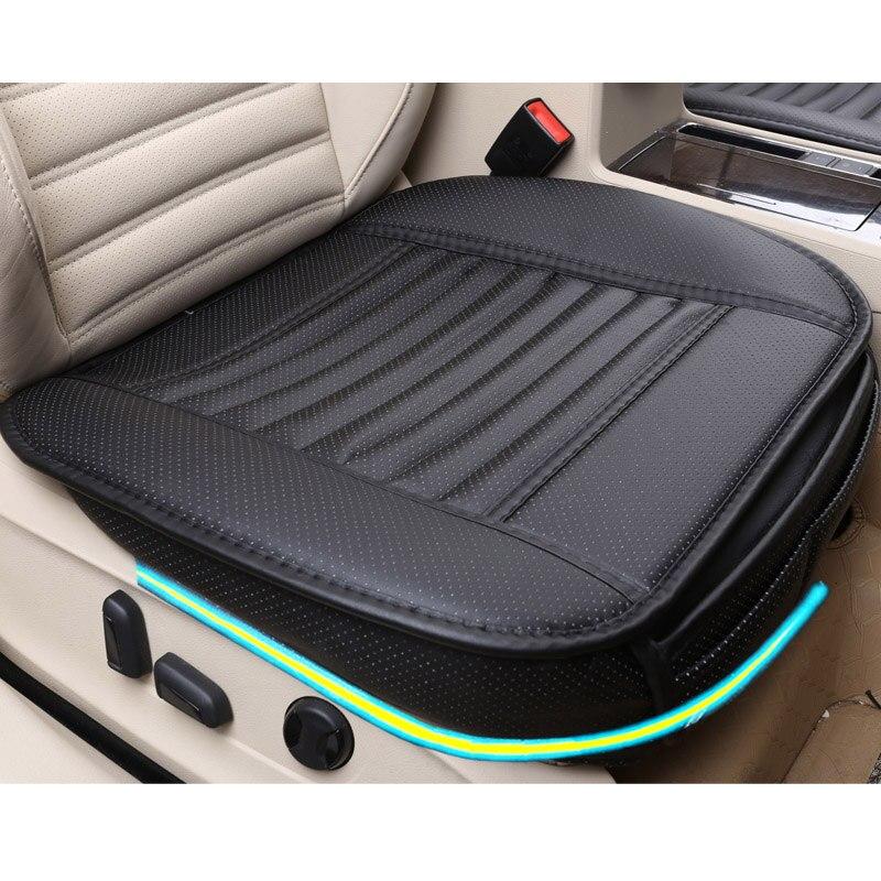 2018 marke neue allgemeine auto sitzkissen, universal nicht-rollding up pads einzel nicht rutsche nicht bewegt sich bambus-carbon auto sitzbezüge