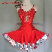 Dancer's Vitality Wave Edge Diamond Harness Style Latin Dance Dress Women Samba Salsa Tango Dress For Latin Competition Dress