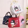 2017 Towel Pattern Oxford Lunch Bag Women Cute Cartoon Lunch Bag Handbag Lunchbox Bag Children Outdoor/school/picnic Lancheira