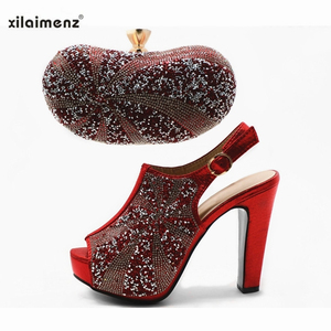Image 4 - Vente chaude chaussures et sac couleur or haute qualité chaussures italiennes femmes et sac pour correspondre à la chaussure de fête africaine Super talons hauts