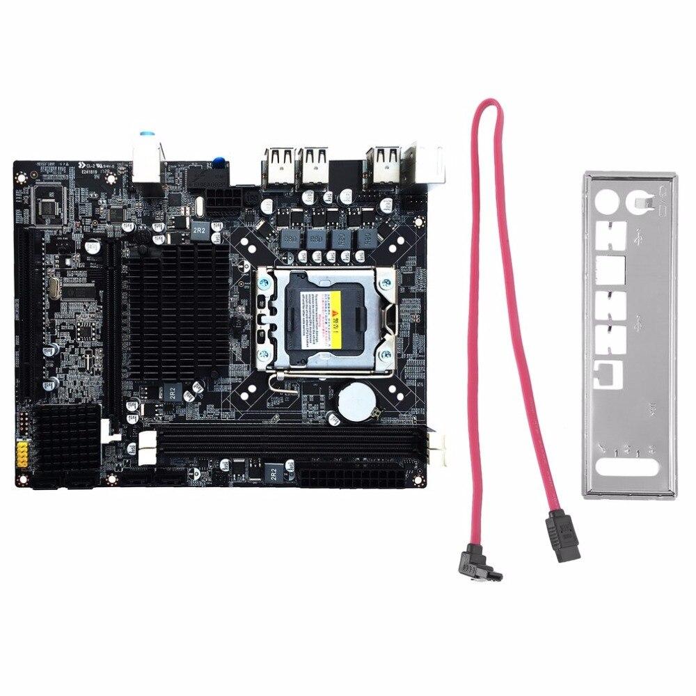 Desktop Motherboard Computer Mainboard For X58 LGA 1366 DDR3 16GB Support ECC RAM For Quad-Core Six-Core Needle 8PIN new desktop motherboard x58 for lga 1366 ddr3 16gb usb2 0 boards for quad core needle 8pin cpu motherboard