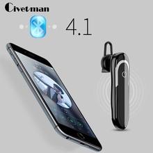 Civetman Hands-free Wireless Bluetooth Earphone Bluetooth Headset Headphones Earbud with Microphone Earphone Case for Phone PC