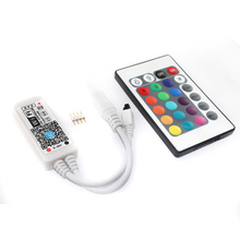 C17 RGB Magic Home Wifi LED RGB Controler DC12V MIni Wifi 24 IR Key Remote Controller