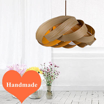 2016 modern art floral creative Ply-Wood chips Chandelier E27 LED lamp handmade indoor lamp for tea room&porch&pavilion BT299-1 vintage clothing store personalized art chandelier chandelier edison the heavenly maids scatter blossoms tiny cages