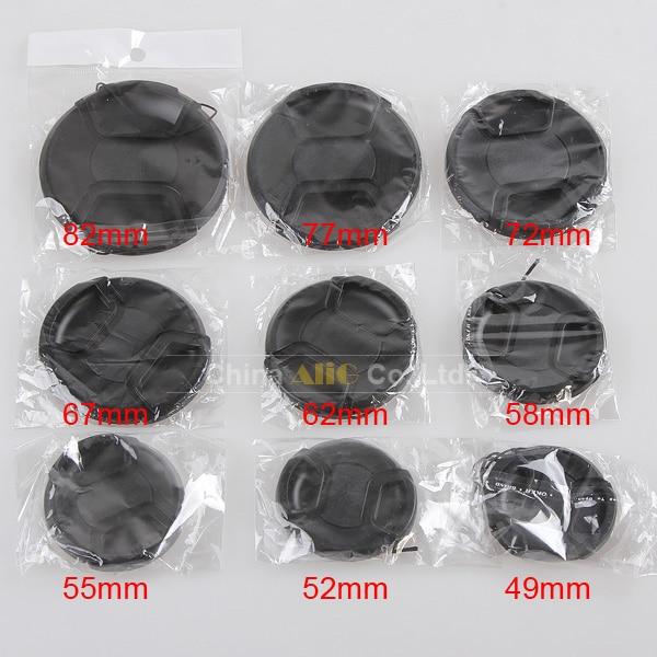 9 stücke Kamera objektivdeckel objektiv front cover 49mm 52mm 55mm 58mm 62mm 67mm 72mm 77mm 82mm