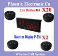 Most popular Menu Restaurant Wireless Calling System,Show Two Group Calls and Different Service,20 Bells & 2 P-236 Receiver