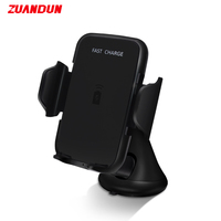 ZUANDUN Qi Wireless Charger Car Stand For IPhone X 8 Plus For Samsung Note 8 S8