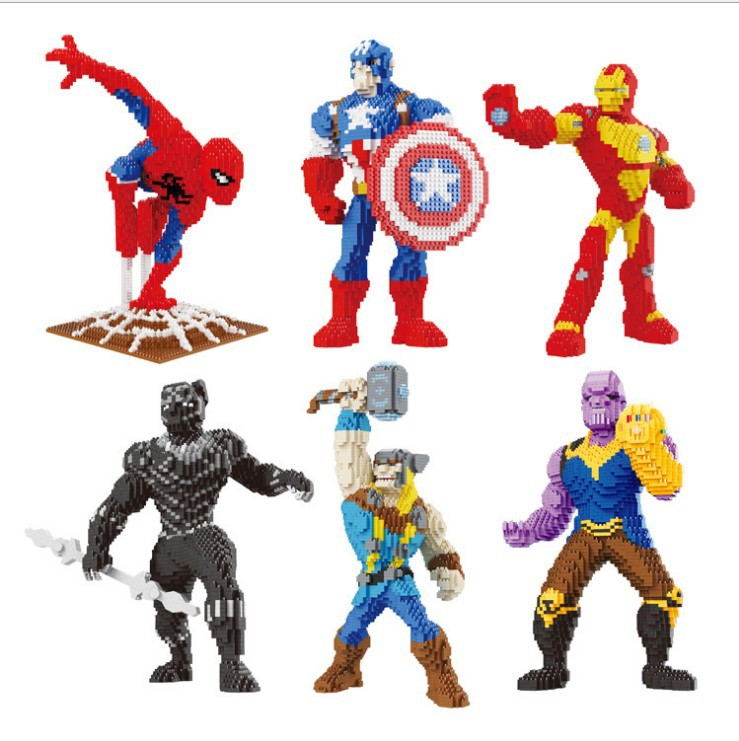 Logical Legoings Marvel Super Heroes Infinity War Thanos Guardians Of Galaxy Spider Iron Man Avengers Thor Building Blocks Toys Figures Clear-Cut Texture Blocks