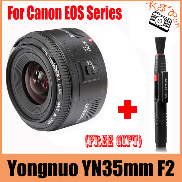 Yongnuo 35mm lens YN 35mm F2 lens Wide-angle Large Aperture Fixed Auto Focus Lens For canon