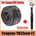 Yongnuo yn 35mm lente 35mm lente gran angular de gran apertura f2 fijo lente de enfoque automático para canon