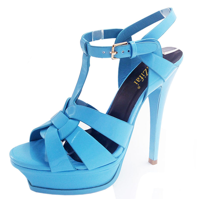 Coolcept Genuine Leather High Heel Sandals Women Heels 10cm And 14cm Sexy Footwear Fashion Woman Shoes R4425 Hot Sale 33-40