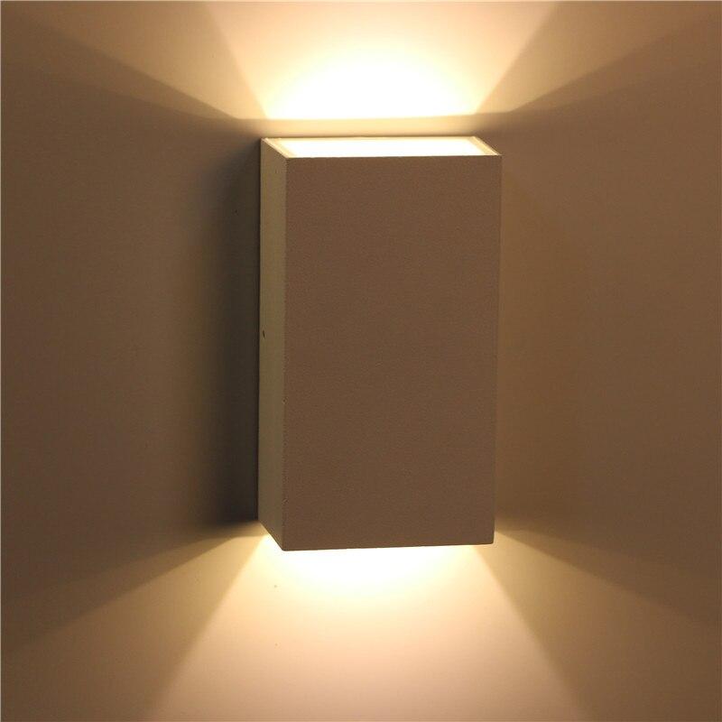 luz llevada de la pared al aire libre impermeable ip luz del porche lmpara de jardn lmpara de pared saln accesorio de ilum