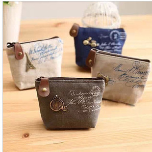 New Vintage Zipper Coin Purse canvas wallets Mini bag Bolsas Bolsos