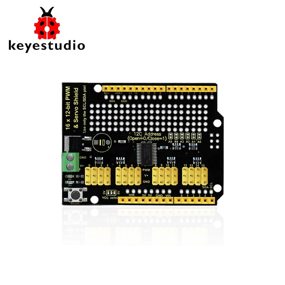 Keyestudio 16-channel Servo Motor Drive Shield For ArduinoKeyestudio 16-channel Servo Motor Drive Shield For Arduino