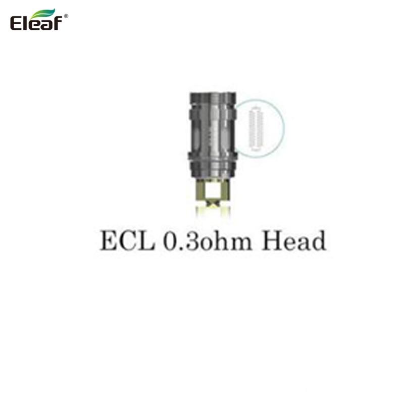 100% Original Eleaf ECL-spole 0.3ohm Dual SS316 Spolhuvud för ijust 2 ijust 2 mini, lemo3 melo serie tank 5st / lot