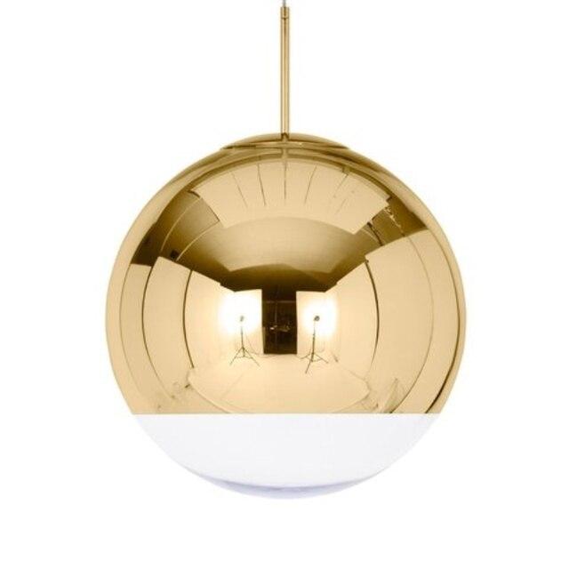Wonderland Modern Ball Lamp Design Pendant LED Light Lamp Art Gold Tom DIXON Glass Copper Mirror Shade Bedroom Bar Living Light