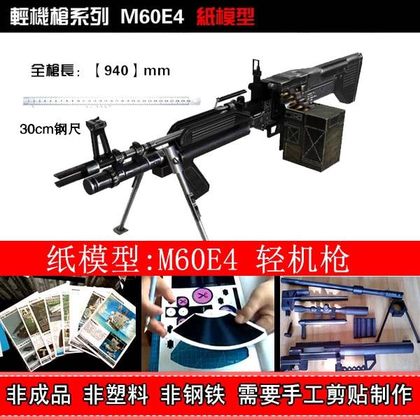 Modèle de papier 3D pistolet haute Simulation 1: 1CF à travers la ligne de tir en ligne pistolet CSOL M60E4