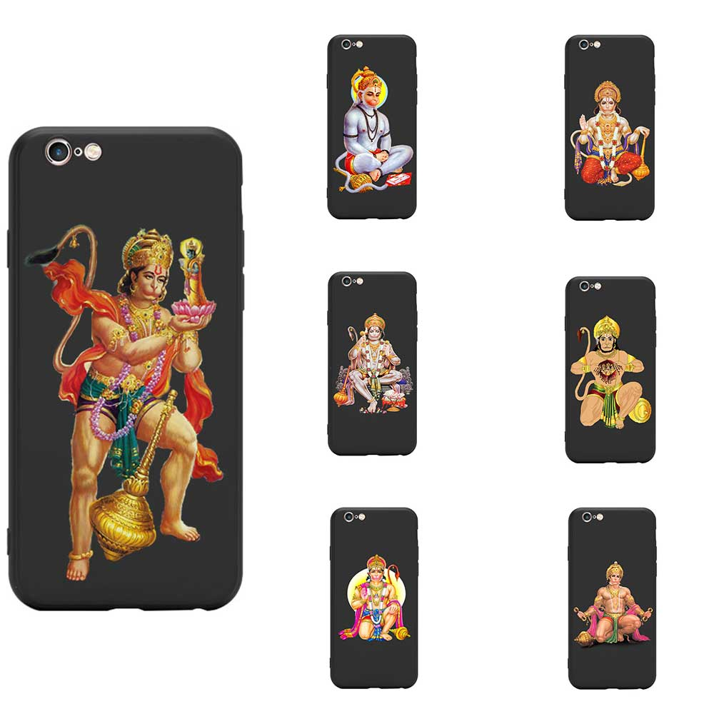 Series 2 Hinduism Lord Hanuman Figure Indian Theme TPU Phone Cases For iPhone 6 7 8 S XR X Plus 11 Pro Max image