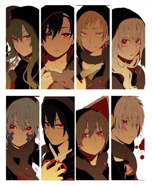 8 Pcs/Lot Mekakucity Actors KAGEROU PROJECT Japanese Anime PVC