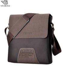 2016 new Promotion Designers Brand Men's Messenger Bags PU Leather Oxford Vintage Mens Handbag Man Crossbody zipper bag