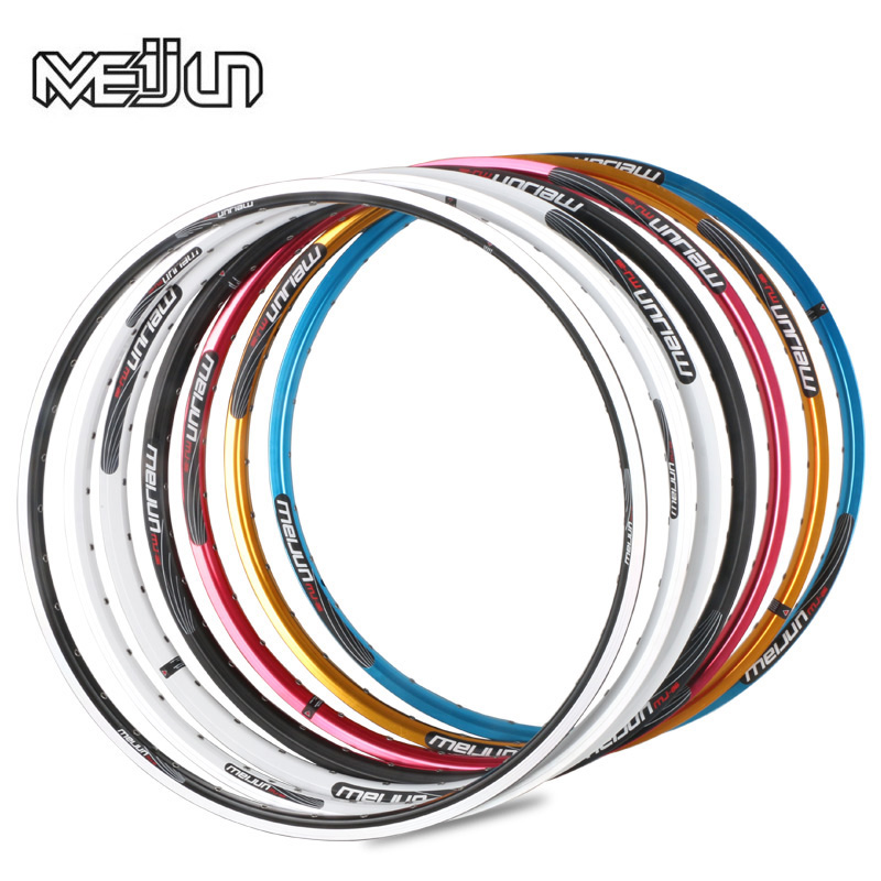 MEIJUN mountain bike ring 26 inch double Aluminum Alloy V disc brake 32 hole 36 hole car wheel rim ring 26 inch mountain bike wheel 32 hole v brake disc brake wheel bicycle 1 pair