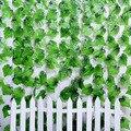 Hot! 2.4 M Artificial Ivy Folha Garland Floral Do Casamento Da Videira Da Flor para DIY Casa Garden Wall Decor VB514 P