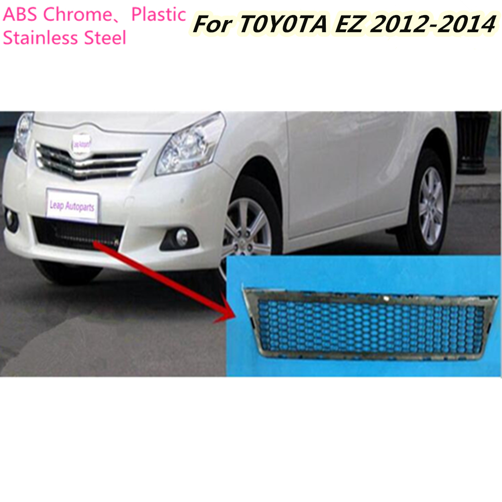 For Toyota EZ Verso 2012 2013 2014 Car protection ABS chrome trim Front racing up Grid Grill Grille Around frame lamp panel 1pcs abs chrome front grille around trim racing grills trim for toyota highlander 2012 2013 2014 car styling 1pc