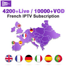 Arabic France IPTV Code SUBTV Subscription Canada Italy Portugal Turkey 1 Year French IP TV