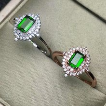 shilovem 925 sterling silver Natural diopside Ring fine Jewelry Customizable women trendy wedding  open wholesale lj040601agt shilovem 925 sterling silver natural emerald ring fine jewelry customizable women trendy wedding open wholesale tfj030301agml