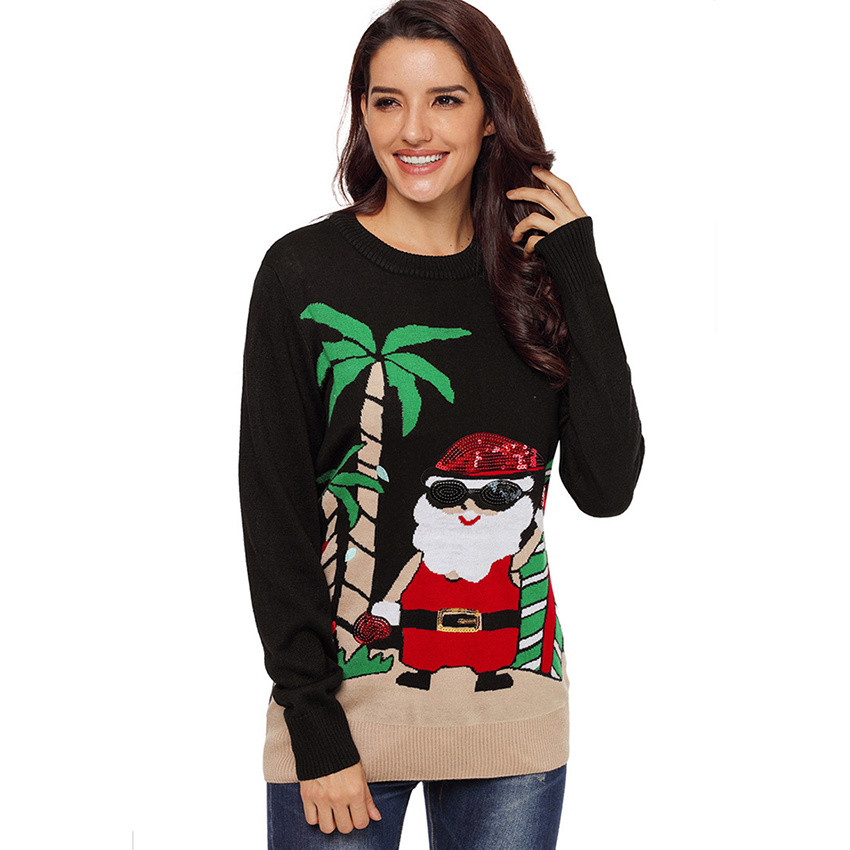 Xxxl Kersttrui.2018 Christmas Sweater Women Christmas Jumper Kerst Trui Sweaters