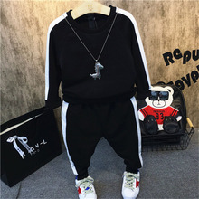 Boys Clothes 2019 Spring New Kids Clothing Suit Cotton Long Sleeve Toddler Girl Clothes 2Pcs/Set 2 3 4 5 6 7 Years Girls Outfits недорого