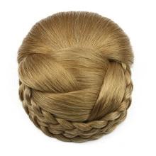 дешево✲  Gres Women Clip-in Postiche Blonde Color Синтетические булочки для волос для женщин Часть волос