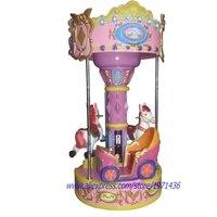 3 Seats Carousels Horse Rides Amusement Equipment Wheel Arcade Game Machine