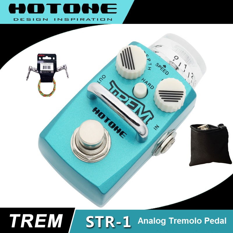 Hotone Skyline Series TREM Optical Tremolo Pedal with Free Pedal Case and More hotone skyboard junior pedal board designed for skyline series stompboxes spb 1