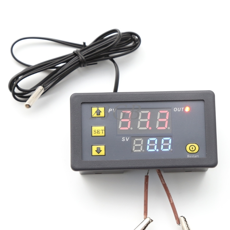 10A 12V LCD Digital Temperature Controller Temp Sensor Thermostat Control Relay N27 digital led thermometer temperature controller ac220v 10a thermostat incubator control microcomputer probe weather station m12
