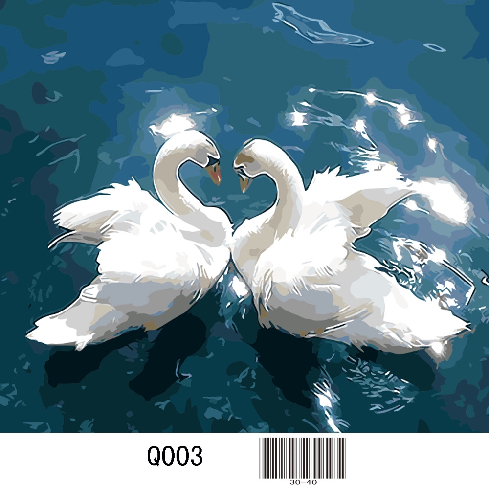 2018 Direct Selling Special Offer Paintings Europe Q003 Swan Diamond Painting Animal Square Embroidery Cross Stitch 5d Diy