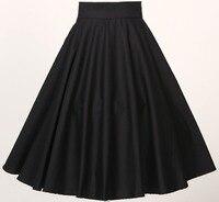 swing dance party girl skirts full circle black bohemian cotton xxxL plus size european uk design skirt 50s high waist