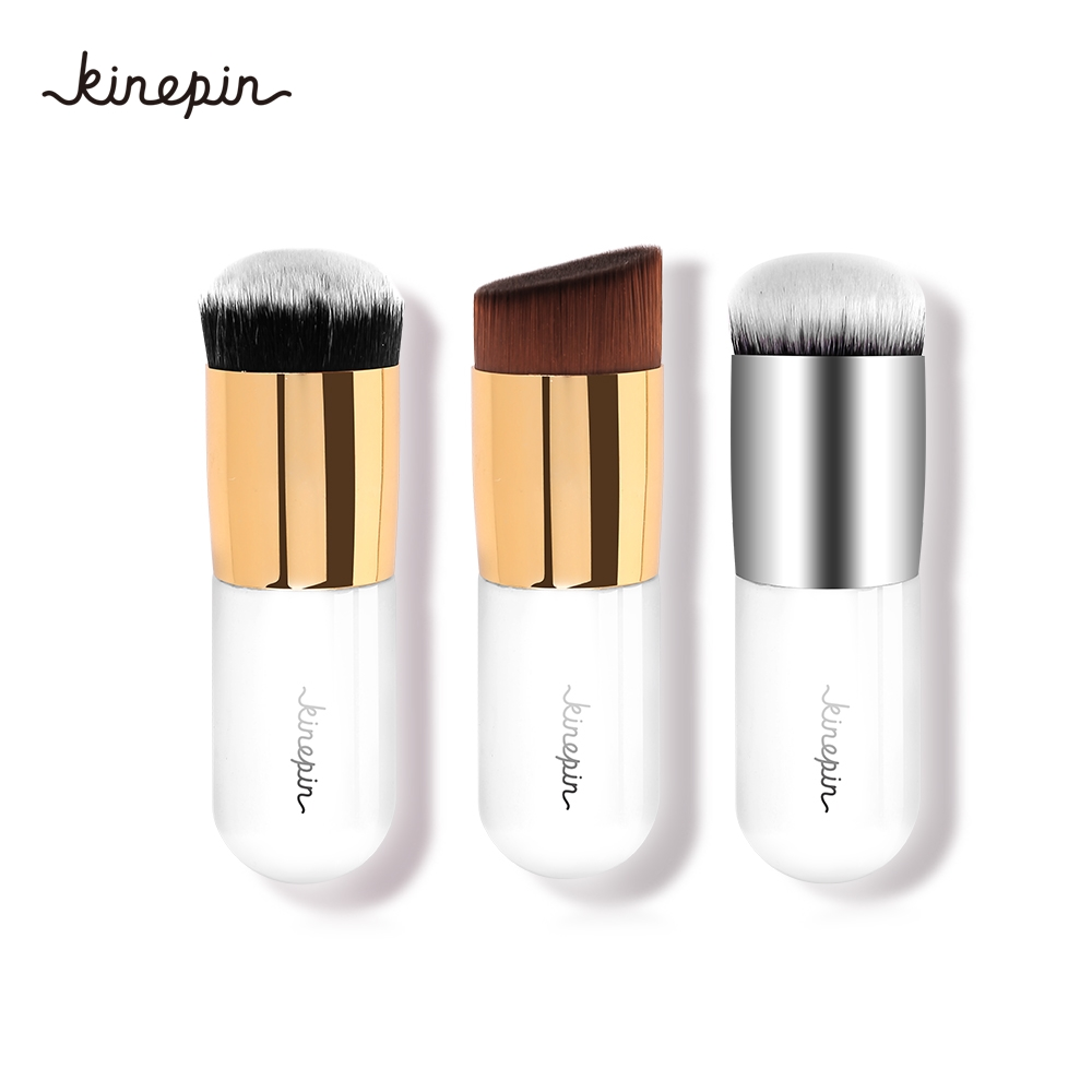 New 3 Colors Chubby Pier Foundation Brush Flat BB Cream Makeup Brushes Professional Make Up Blending Brush Beauty Cosmetic Tools 2016 new arrival black dual purpose eyelash assist device extension beauty supplies brow brush lash comb makeup brushes tools