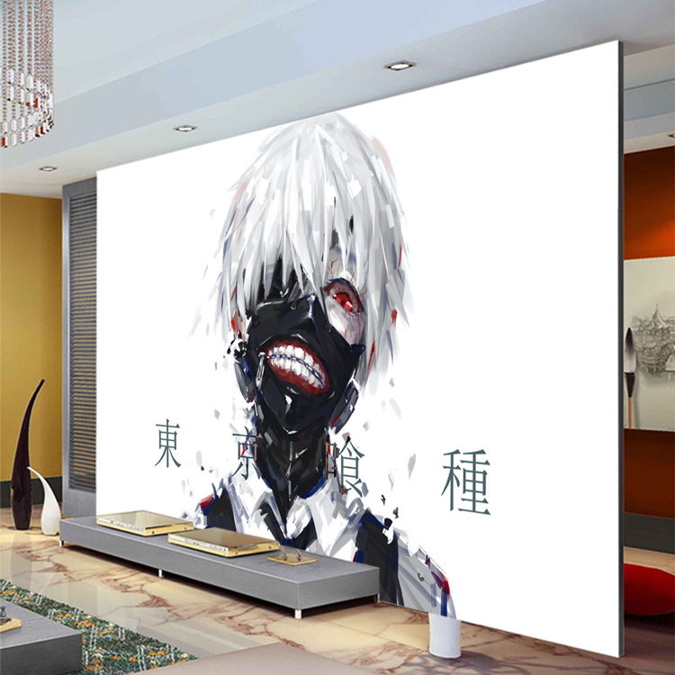 Aliexpress.com : Buy Japanese Anime Photo Wallpaper Wallpaper Tokyo Ghoul  3D Silk Wall Mural Art Boys Kid Room Decor Bedroom Cartoon Home Decoration  From ... Part 35