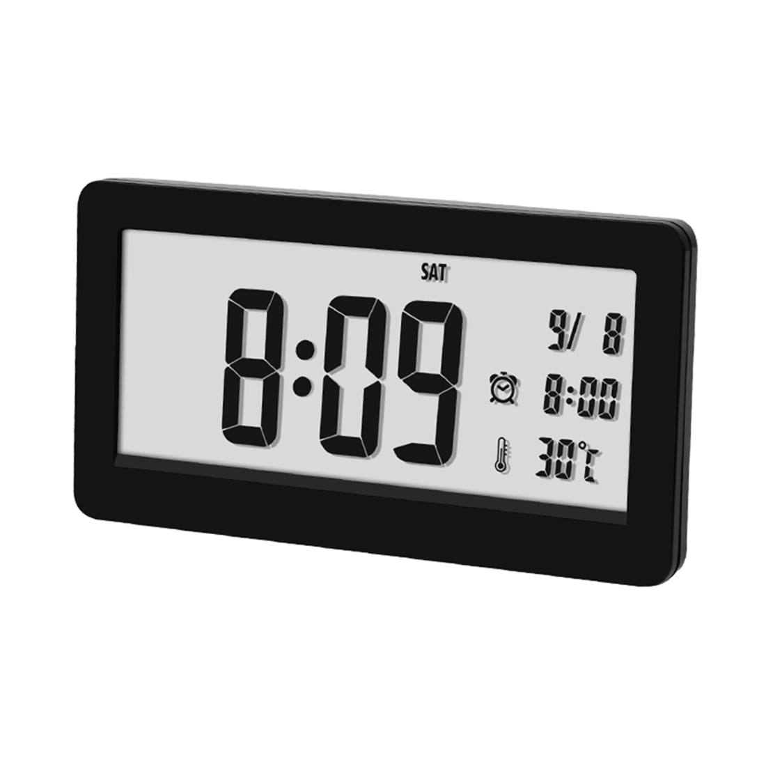 Multifunctional Small Table Clock  Led Digital Electronic Silent Clock For Home Table Decor Desk Clock Stand – Black