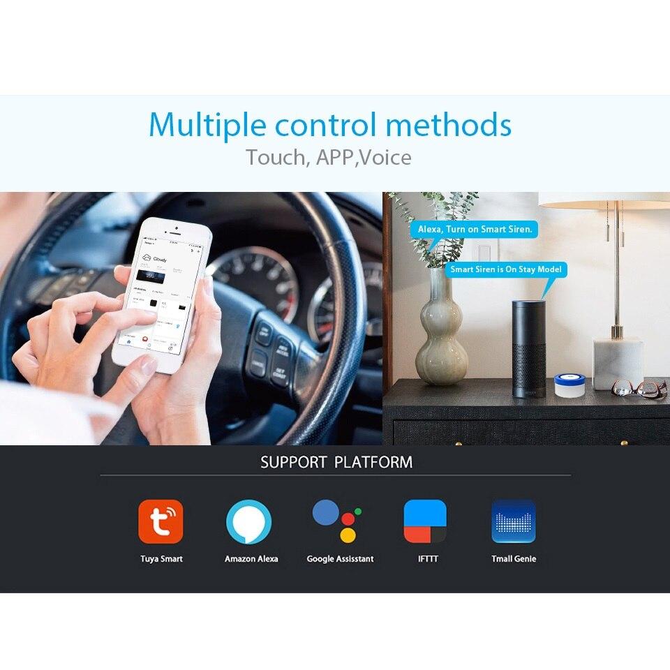 スマートワイヤレス wifi の警報サイレン自動ダイヤルスマートライフ Alexa のアプリとの互換性  グループ上の セキュリティ & プロテクション からの 警報システムキット の中 2