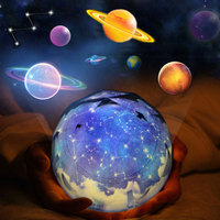 CreativeCosmic Starry Sky LED Night Light Planet Magic Projector Universe Lamp LED Rotary Flashing Starry Projector Xmas MY