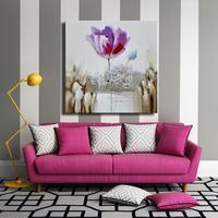 En gros pas cher prix fleur peinture haute qualité texture épaisse peinture à l'huile fleur art moderne abstrait pour la décoration intérieure