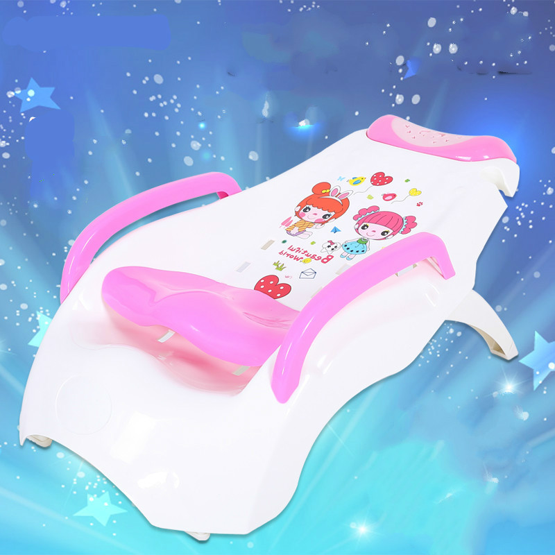Extra Large Shampoo Chair Baby Shampoo Lounger Adjustable Foldable Children Shampoo Bed