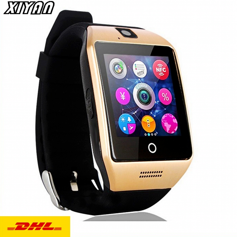 DHL Wholesale Bluetooth Smart Watch Q18 For Android Phone With Pedometer Camera SIM Card Whatsapp Call Message Display pk A1-in Smart Watches from ...