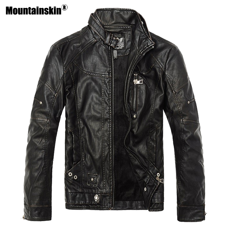 Mens Bikers Winter Leather Jacket 1