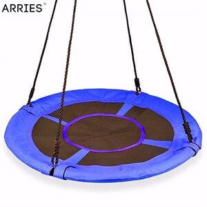 Image 3 - Columpio de juguete para niños, silla colgante redondo, Columpio de árbol, muebles de jardín, patio de juego, Columpio de 80CM de diámetro