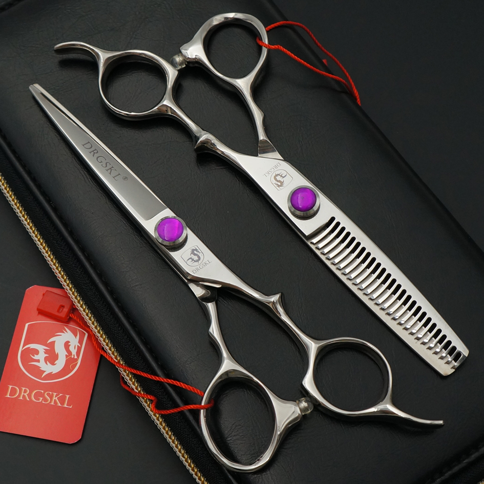 cf871f4b1 440C بيع 6 بوصة الحلاق مقص عر عالية الجودة المهنية الحلاق الشعر مقصات  الحلاقة الشعر المقصات